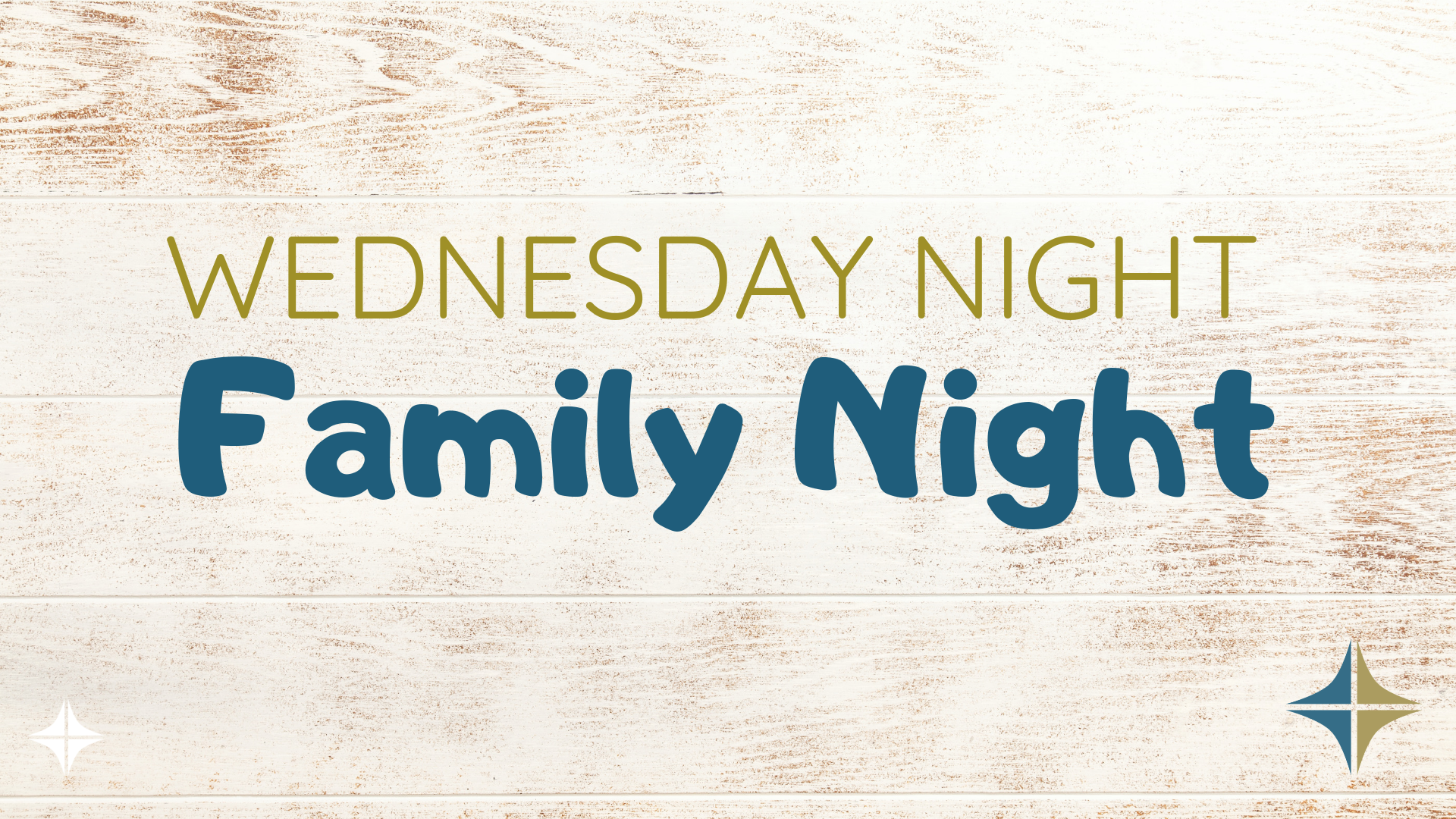 Wednesday Night Family Night